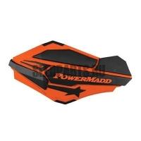 Ветровые дефлекторы руля PowerMadd New orange/black + крепеж
