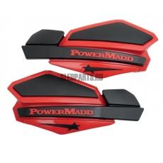 Ветровые дефлекторы руля PowerMadd red/black