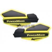 Ветровые дефлекторы руля PowerMadd yellow/black + крепеж