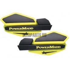 Ветровые дефлекторы руля PowerMadd yellow/black