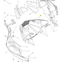 Панель передняя нижняя Ski-Doo / Lynx REV-XP, REX