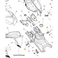 Резиновый крепеж боковой панели Ski-doo / Lynx