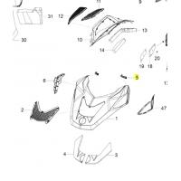 Резиновый крепеж капота SPI Ski-doo Lynx