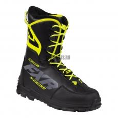 Ботинки FXR X-Cross Pro с утеплителем black/hi-vis
