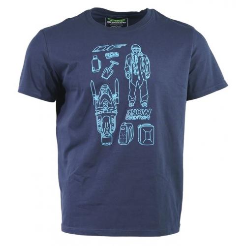 Футболка мужская Snow Man цвет синий