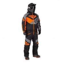 Комбинезон мужской FXR Fuel с утеплителем black/grey/orange