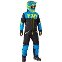 Комбинезон мужской легкий FXR Helium Lite Trilaminate Black/Blue/Hi-Vis
