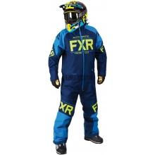 Комбинезон мужской с утеплителем FXR Clutch Navy/Blue/Hi-Vis