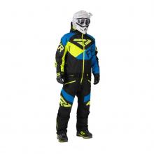 Комбинезон мужской с утеплителем FXR FX black/blue/hi-vis