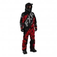 Комбинезон мужской утепленный FXR CX black/red camo/lt grey