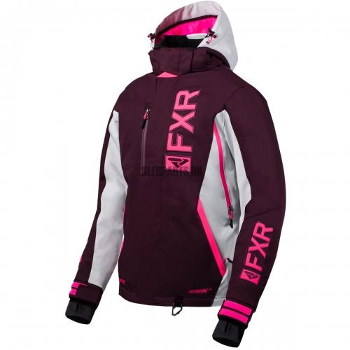 Куртка женская FXR Evo FX plum/lt grey/elec pink