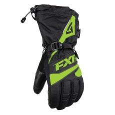 Перчатки мужские FXR Fuel black/elec lime