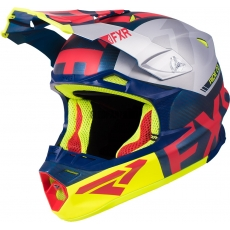 Шлем FXR Blade 2.0 Carbon evo navi/red/hi-vis/silver