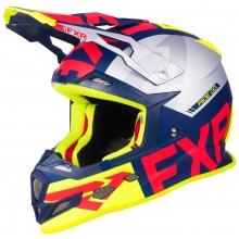 Шлем FXR Boost Evo helmet navi/red/hi-vis/silver