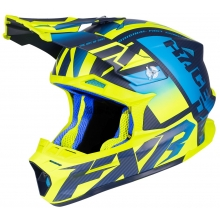 Шлем FXR Carbon Race Div blue/hi-vis/navy