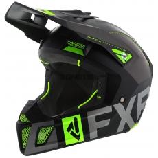 Шлем FXR Clutch Evo black/char/lime