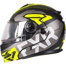 Шлем FXR FUEL Modular EVO helmet black/char/hi-vis