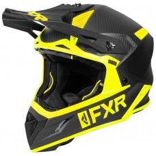 Шлем FXR Helium carbon black/hi-vis matte finish