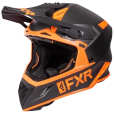 Шлем FXR Helium carbon black/orange matte finish