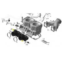 Впускной патрубок с лепестковым клапаном Ski-doo / Lynx 600 E-tec